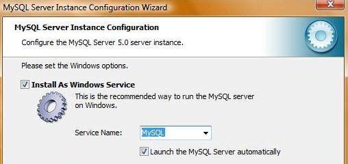 mysql-configurazione