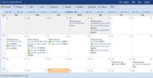 Celoxis - Calendario